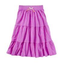 Tiered neon maxi skirt