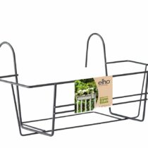 elho Metal Rack Green Basics for Balcony Trough 40cm in Anthracite, 40×16.5×20 cm