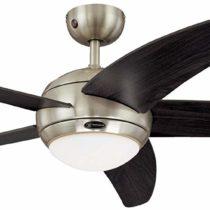 Westinghouse Bendan Ceiling Fan – Satin Chrome/Wengue
