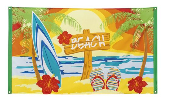 Boland 52466 Hawaiian Beach Polyester flag (90 x 150 cm)