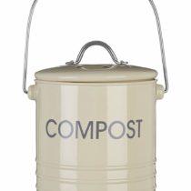 Premier Housewares Compost Bin with Handle – Cream