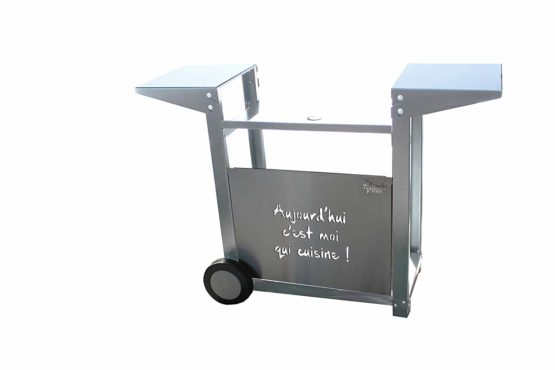 TONIO Plancha Trolley, Stainless Steel