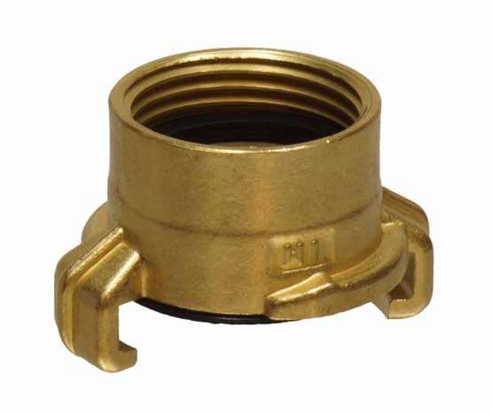 Hozelock 59116 Tricoflex Geka Brass Coupling 1Inch Internal Thread, Gold, 15x 9x 6cm