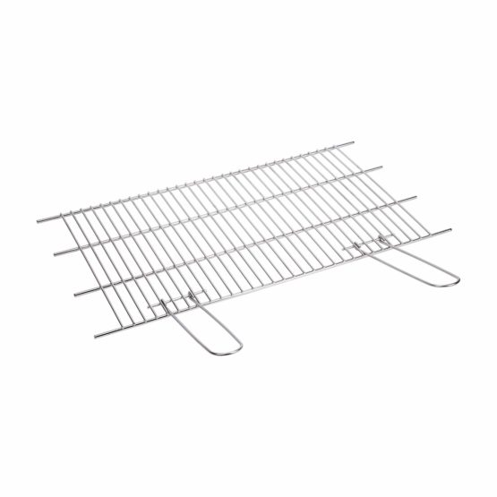 SAUVIC CUT-OUT 18/8 STAINLESS STEEL GRILL RACK 60 X 40 CM, Silver, 62x40x1.5 cm