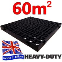240 x CrazyGadget® GRASS GRID Black Plastic Paving Driveway Grid Turf Grass Lawn Path Gravel Protector Drainage Mat Shed Greenhouse Base (60 Square Metre)