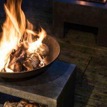 Ivyline Firebowl & Rectangle Console Granite 50cm Fire Bowl