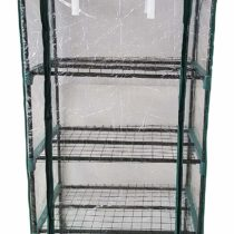 HSH MSM 5512/0 Greenhouse with 4 Shelves, Green/Transparent, 70 x 50 x 160 cm