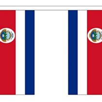 Costa Rica Bunting (30 flags) 9m