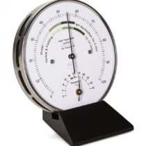 Fischer Indoor Climate Hygrometer with Thermometer, Stainless-Steel Multi Colour, One Size