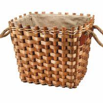 GARDEN FRIEND Lined Rectangular Log Basket.