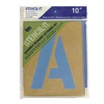 Graphic Products Stencil-It Reusable Lettering Set-10-inch, 10″
