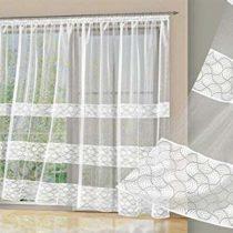 Alktex-Fako Ramiro LS 245×450white polyester curtain transparent 245x 450x 0.3cm
