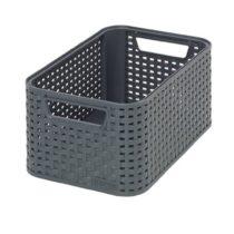 CURVER Style S – storage boxes & baskets (Storage basket, Grey, Rattan, Monotone, Bathroom, Bedroom)