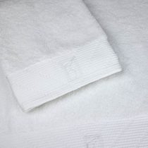 Bailet b001db-bc01 Timeless Combed Cotton Bath Towel 100 x 150 cm white
