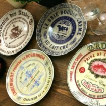 """Gourmet Cheese"" Set of 4 Ceramic Side Plates by Creative Tops, 19.1 cm (7½"")"