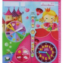 Baby ABC Watch Petite Reine-Girls'Watch Digital Quartz Way 6 Years Yellow Plastic Strap Blue Dial