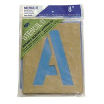 Graphic Products Stencil-It Reusable Lettering Set-8-inch, 8 Inches