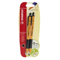 Ballpoint -STABILO pointball Black Pack of 2