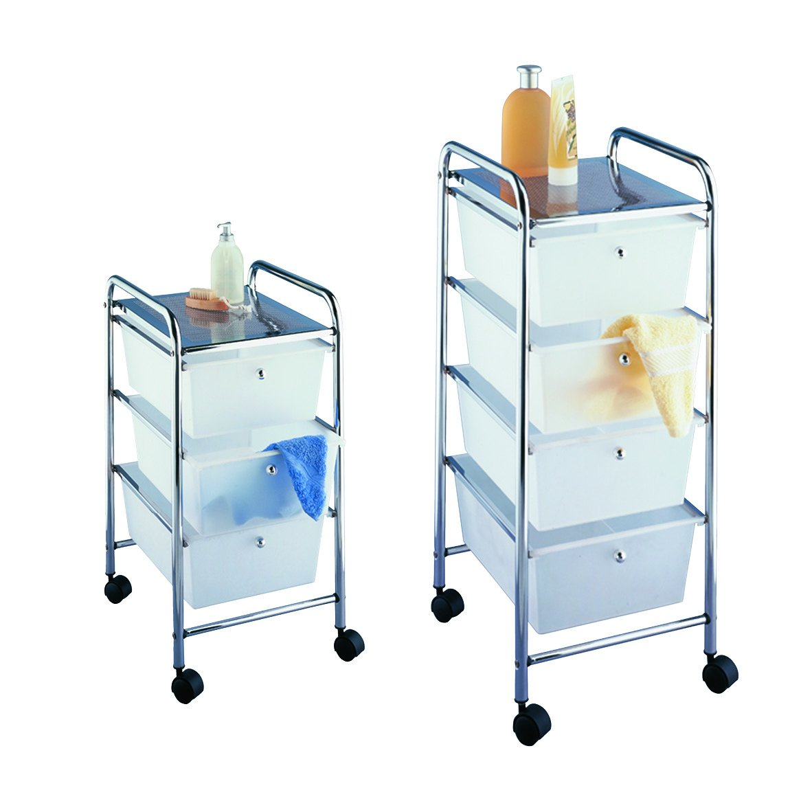 Wenko 16611100 Household and bathroom trolley Messina with ...