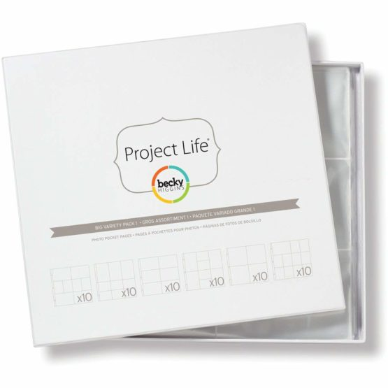 Becky Higgins Project Life Photo Pocket Pages 10×6 Variety Pack, 33.2 x 35.4 x 0.6 cm