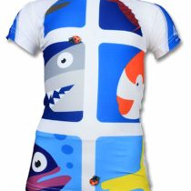 4BB2 Kids Pic Fish UV Swim Shirt