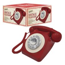 Benross 44510 Classic Retro Vintage Style Home Telephone – Red