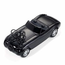 """'Troika""""Road Star–GAM07/BK (50s Style Roadster–Paper Clip Holder–Magnetic–5Paper Clips–Friction–Shiny Black"""