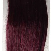 1 st Lady Silky Straight Natural European Weft Human Hair Extension with Premium Blend Weave, Number SP1, Dark Burgundy, 14-Inch