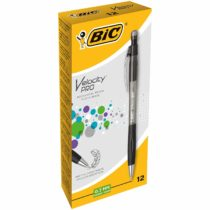 Bic Velocity Pro HB Mechanical Pencils, Black Barrels, 0.7 mm, Box of 12