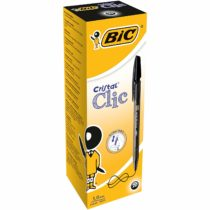 BIC Cristal Clic Retractable Ballpoint Pens Black 20 Box