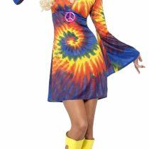 Smiffys, Ladies' 60s Schnurbatik Costume, Dress, Hippie, Size: S (8-10) , 20741