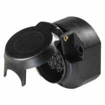 as – Schwabe 61474 Car Trailer 13-pin Heavy-Duty Round Socket for 12V towbar, Black