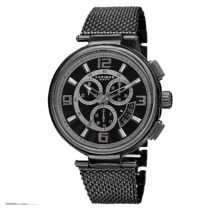 Akribos XXIV Men's Chronograph Watch – 3 Subdials on Scallop-Textured Dial – 4 Day Date Window On Stainless Steel Mesh Bracelet – AK772