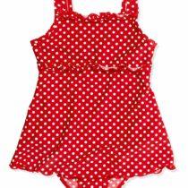 Playshoes Girl's Uv Sun Protection Polka Dot Ruffle Skirt Swimsuit, Bathing Suit