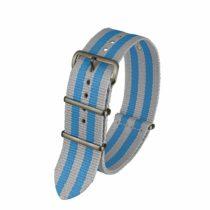 Davis BNN3BGREY/BLUE 20 Unisex Watch-Bracelet-Nylon-Grey