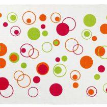 Gelco Design 707590 Bath Mat 50 x 80 cm with Pink Bubbles Motif