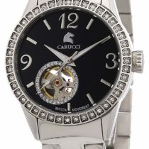 Carucci Watches Women's Automatic Watch ALESSANDRIA CA2197SL-BK with Metal Strap
