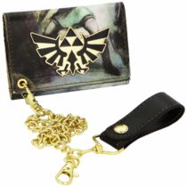 Zelda Nintendo Print Trifold Wallet with Chain