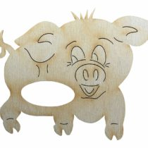 'Petra's Craft News A SRH72105 5 x WOODEN NAPKIN HOLDER – Pig
