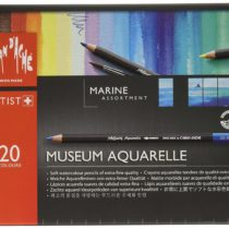 Caran D'Ache Museum Aquarelle Marine Pencils – Assorted Colours (Pack of 20)