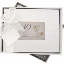 30th Pearl Anniversary, Small Photo Album, Champagne Glasses