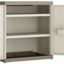 """'Kis""""Excellence Plastic Cupboard Low, Set of 1, Sand, XL 9681000031302"""