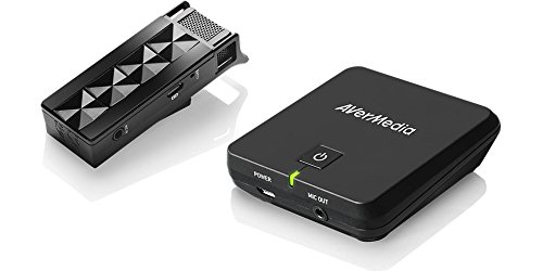 AVerMedia Wireless Teacher Microphone (Line out), Light and Wearable, 360 Degree Connection, 2.4 GHz Wireless Technology, Buzz Reduction, Quick Charge, 3.5 mm Jack
