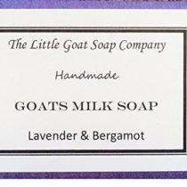 1 x Lavender & Bergamot Goats Milk Soap 100g. Eczema, Psoriasis, Dermatitis. Rosacea, Dry Skin