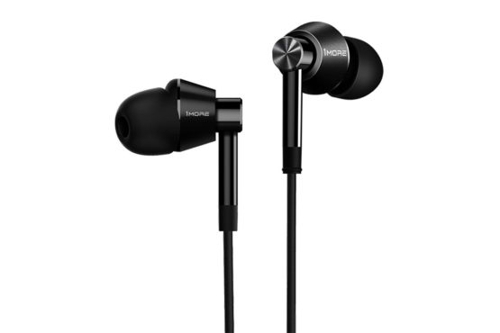 1MORE Dual Driver In-Ear Earphones Hi-Res Comfortable Headphones with Tangle-Free Cable, Noise Isolation, High Resolution, In-Line Control for Smartphones/PC/Tablet – E1017 Space Gray
