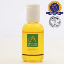 Absolute Aromas Calendula Infused Oil 50ml – Pure, Natural, Infused Calendula in Sesame Oil – Natural Moisturiser and Massage Oil for Skin, Hair and Nails