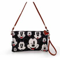 Disney Classic Mickey Visages Messenger Bag, 28 cm, Black (Negro)