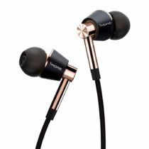 1MORE Triple Driver In-Ear Earphones Hi-Res Headphones with High Resolution, Bass Driven Sound, MEMS Mic, In-Line Remote, High Fidelity for Smartphones/PC/Tablet – E1001 Gold