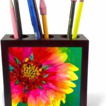 "3dRose ph_230218_1 5-Inch""Artistic Rendition of Indian Blanket Flower"" Tile Pen Holder"