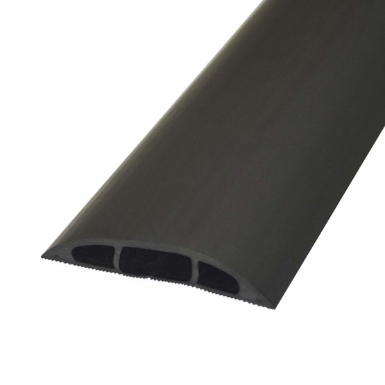 3m x 60mm Low Profile Rubber Floor Cable Safety Cover Protector – Conduit Tunnel Sleeve – Great for Home (Garage), Office, Warehouse – Walk Over Wire Management – Loops